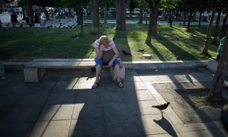Mujer en plaza Syntagma