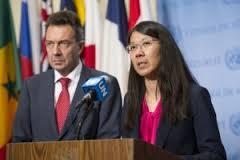 Joanne Liu, presidenta de Médicos Sin Fronteras (MSF), y Peter Maurer,