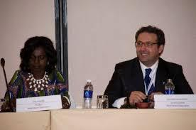 La presidenta de la Organización Mundial de Agricutlores, Evelyn Nguleka,